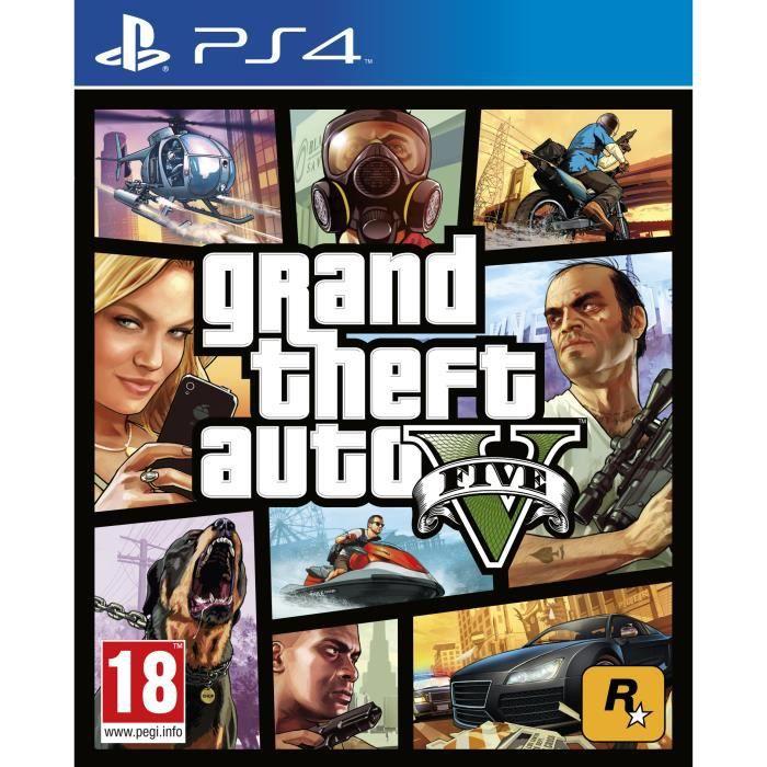 JEU PS4 Grand Theft Auto V (PS4) - Import Anglais