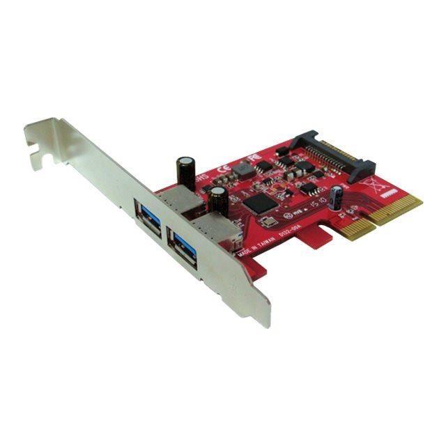 CARTE RÉSEAU  Roline Adaptateur USB PCIe x4 faible encombrement