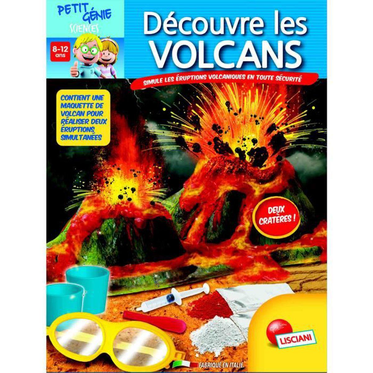 EXPÉRIENCE SCIENTIFIQUE Coffret petit génie : Découvre les volcans aille U