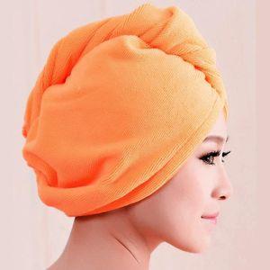 HK-Coral Fleece épaissir Séchage Rapide Cheveux Chapeau Serviette Absorption d/'Eau Douche Cap mon