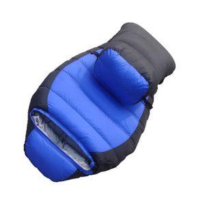 SAC DE COUCHAGE Sac de Couchage 220*80*50cm Bleu Momie avec pour C