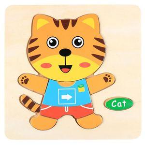 PUZZLE Puzzle en bois d'animal de dessin animé  chat # cb
