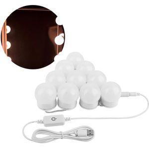 AMPOULE - LED Lampe de miroir LED USB tactile pour la salle de b
