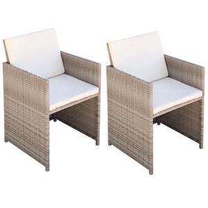 SALON DE JARDIN  P114  Chaises de salle a manger 2 pcs 52x56x85cm R