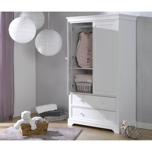 Armoire achat vente armoire pas cher cdiscount for Armoire bebe blanche