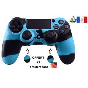 HOUSSE DE TRANSPORT protection manette silicone bleu/noir housse étui