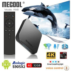 BOX MULTIMEDIA KM9 Android 8.1 Smart Tv Box Commande Vocale S905X