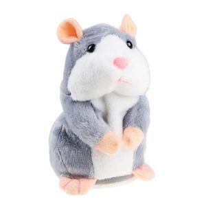 PELUCHE Peluche Parlante Hamster, IDEAPRO Répète ce Que tu