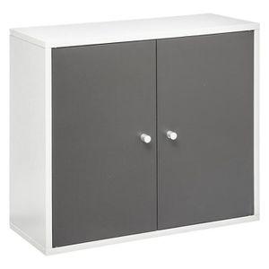 COLONNE - ARMOIRE SDB Meuble haut de salle de bain Agglo Essenzo blanc g