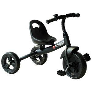 TRICYCLE HOMCOM Tricycle Enfants Evolutif Poussette Canne P