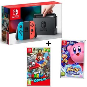 JEU NINTENDO SWITCH CONSOLE NINTENDO SWITCH + 2 JEUX
