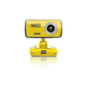 WEBCAM Sweex - WC064 - Citrine - Webcam HD + micro
