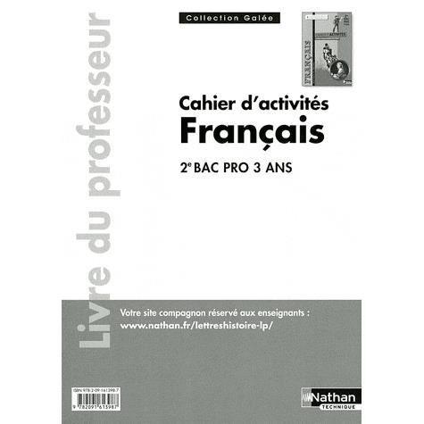 Cahier D Activites Francais 2e Bac Pro