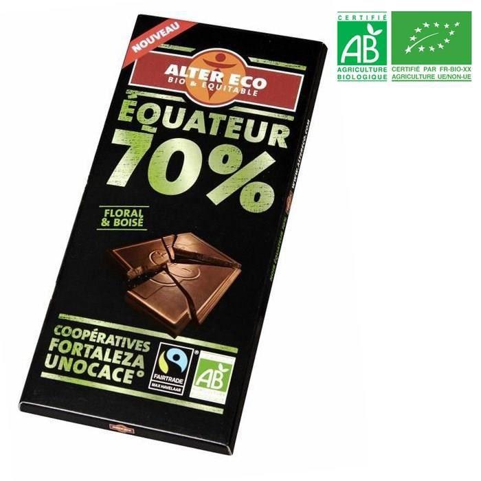 ALTER ECO Chocolat noir Equateur 70% Bio100g