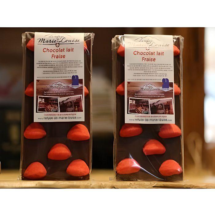 Chocolat de Savoie au lait fraise