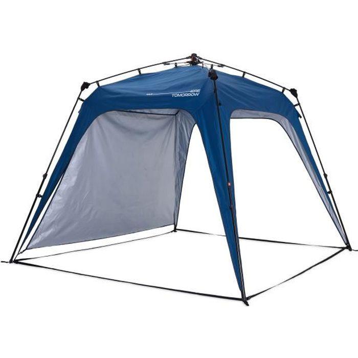 Lumaland x Where Tomorrow Tonnelle de Jardin – 1 Panneau Latéral Inclus - Pavillon de Camping – Forte Protection Intempérie - Bleu