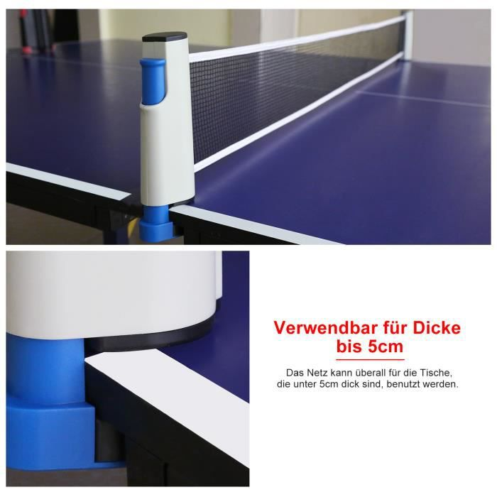 Filet de Tennis de Table Rétractable pour Ping-Pong -LON