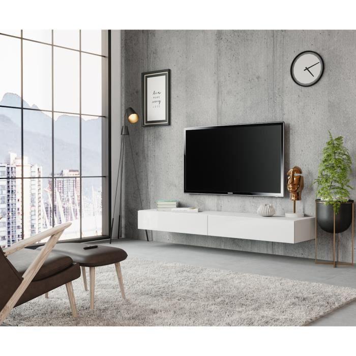 Meuble TV Sierra 140 cm Blanc