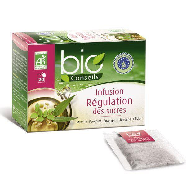 Infusion Régulation des Sucres Bio - 20 sachets…