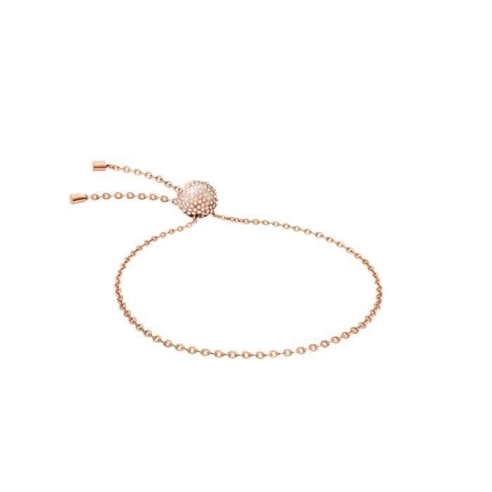 Calvin Klein Side - Bracelet femme - KJ5QPB1401 - Acier inoxydable rose - Boucle boule - Cristaux