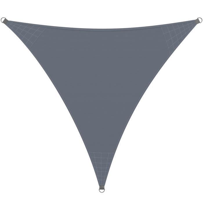 Voile d'ombrage Auvent Oxford Triangulaire 5x5x5m Anthracite Jardin balcon terrasse
