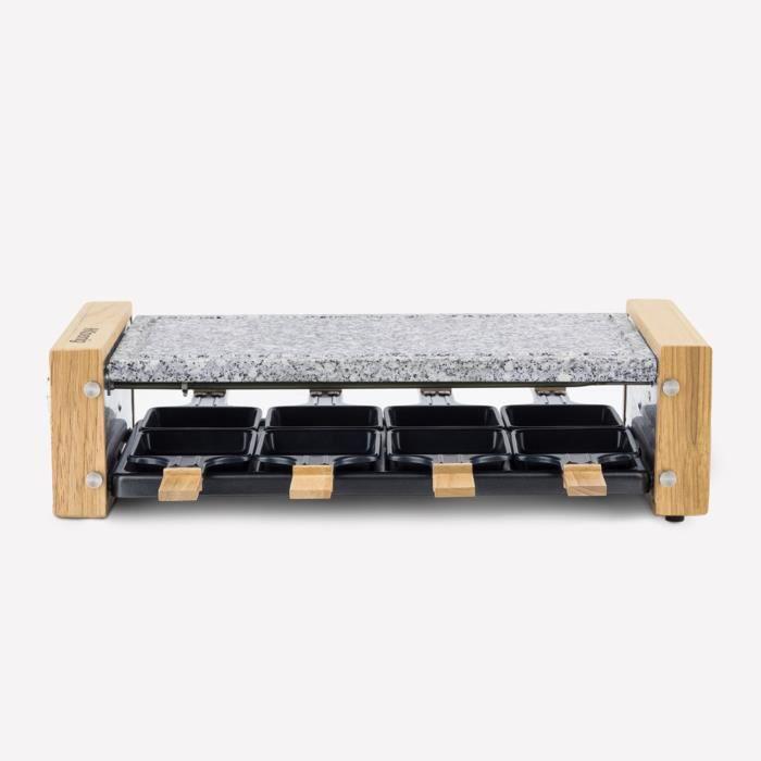 APPAREIL raclette et pierre à cuire 8 personnes design bois
