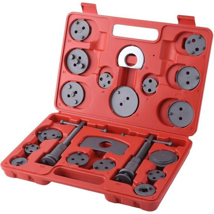 22Pcs Coffret étrier de frein universel - Kit d'outils repousse piston d'étrier de frein pour Auto Voiture