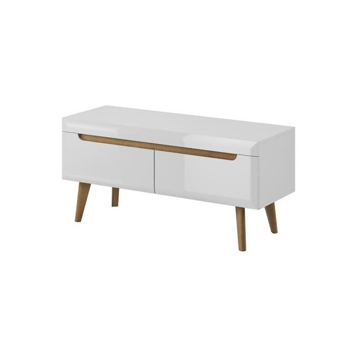 Meuble TV NORDY 107 cm - blanc