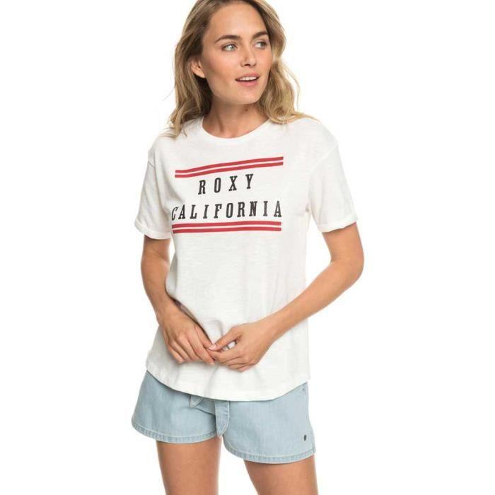 vêtements femme t-shirts roxy follow me to the beach b. t-shirt pour femme.caractéristiques:matière :jersey flammé léger en mélange