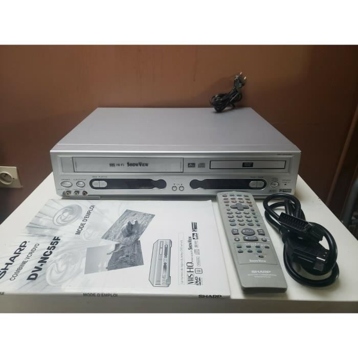 SHARP DV-NC55F LECTEUR MAGNETOSCOPE ENREGISTREUR VHS S-VHS CASSETTE VIDEO K7 (ne lit pas les DVD/CD)