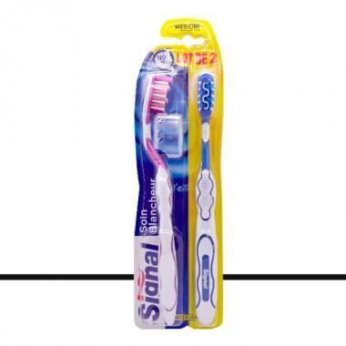 Signal - Lot de 2 Brosses à Dents Soin Blancheur - Medium