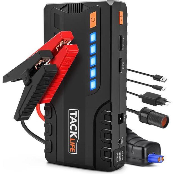 Chargeur de Batterie de Voiture 12V, Booster de Démarrage TACKLIFE 800A 18000mAh, Portable Démarrage LED Lampe - T6