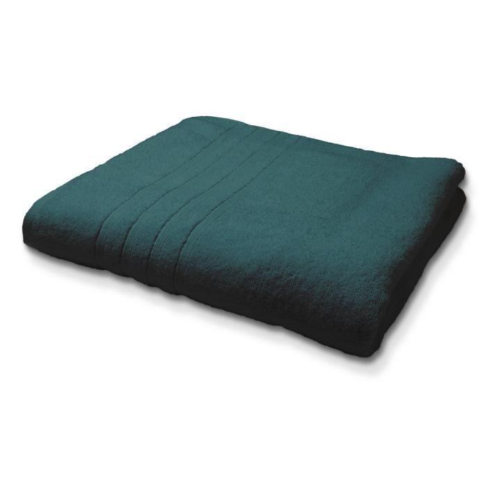 Maxi Drap de Bain en coton - 90 x 150 cm - Bleu émeraude