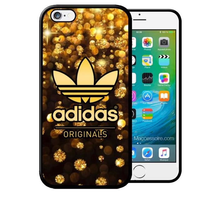 coque iphone 4 4s adidas original pluie d 39 or gold luxe. Black Bedroom Furniture Sets. Home Design Ideas