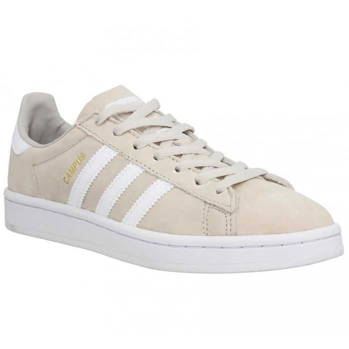 ec9fbce0d9f Baskets ADIDAS Campus velours Femme-41 1-3-Marron clair - Achat ...