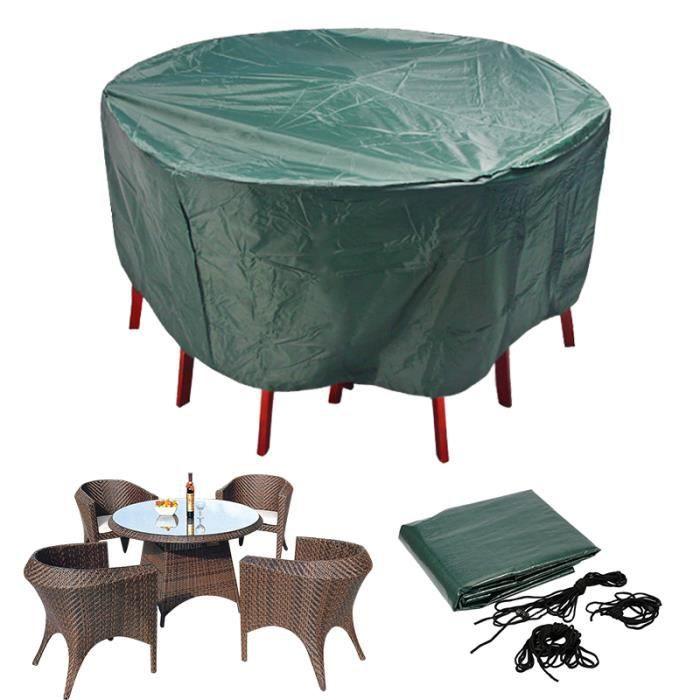 Couvercle étanche pour tables et chaises Patio Extérieur mobilier de Jardin Ronde Ovale