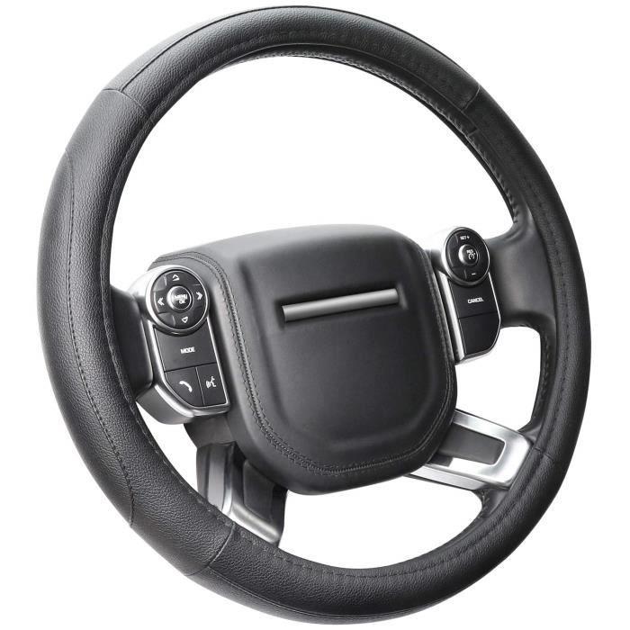 RUNGAO Housse /élastique universelle et robuste pour volant de voiture gris