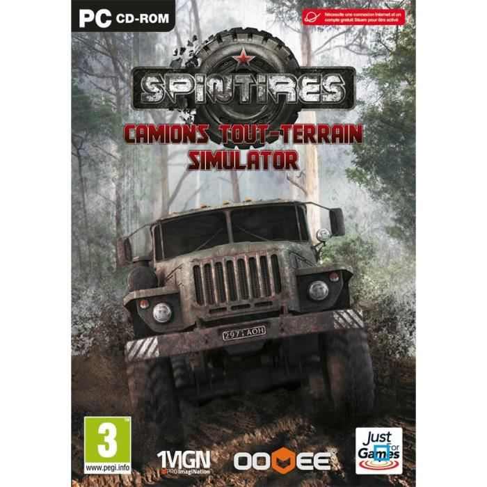 spintires camions simulator jeu pc achat vente jeu pc spintires camions tout pc cdiscount. Black Bedroom Furniture Sets. Home Design Ideas