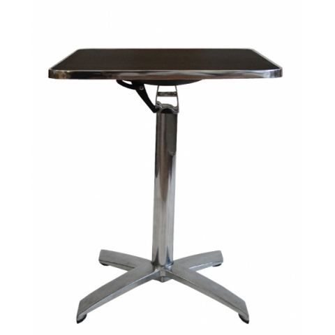 Table bistro pliante carre noir achat vente table de for Table de bistrot pliante