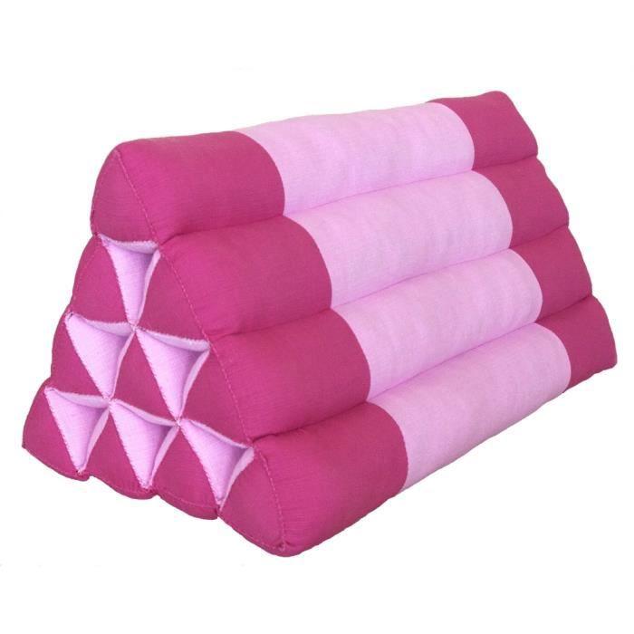 coussin triangle Coussin triangle, 50x33x33 cm, Kapok, Rose Fuchsia   Prix pas cher  coussin triangle
