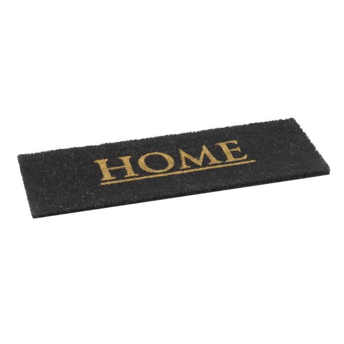 tapis de porte d entr e paillasson mod le welcome rectangulaire en noir 75 x 50 cm achat. Black Bedroom Furniture Sets. Home Design Ideas