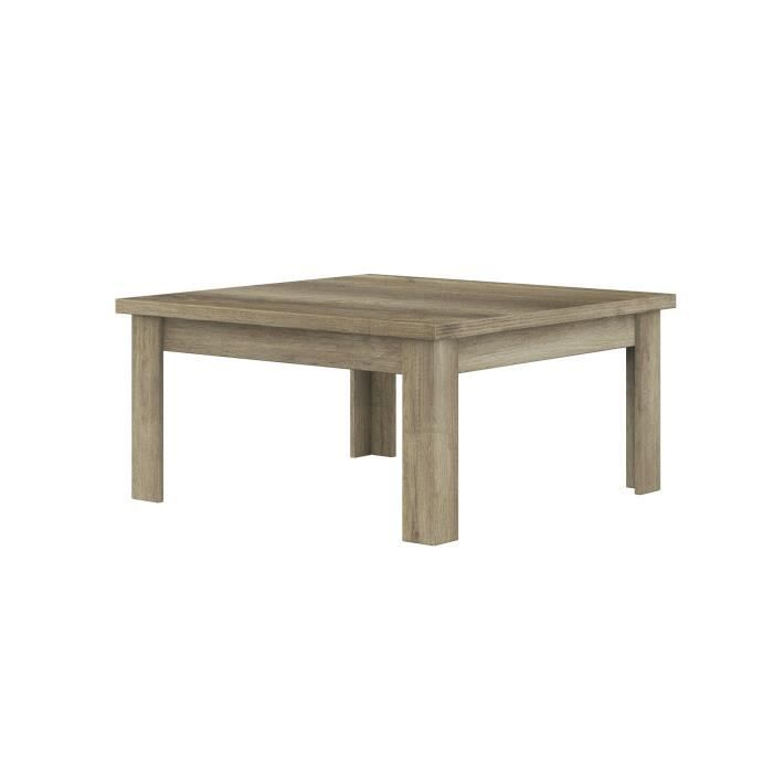 Table basse carr e contemporaine hard l 100 x p 100 x h 45 cm achat ven - Table carree contemporaine ...