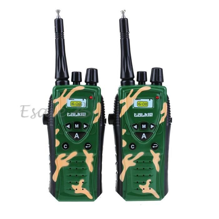 2pcs talkie walkie talkies walkies intercom abs vert jouet. Black Bedroom Furniture Sets. Home Design Ideas
