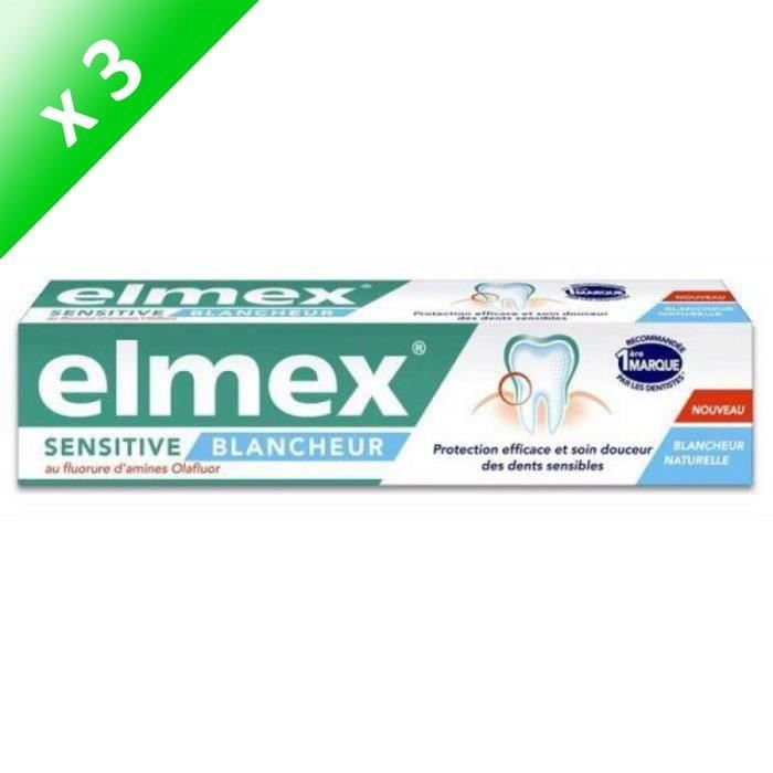 DENTIFRICE ELMEX Dentifrices Sensitive blancheur - 75 ml - De