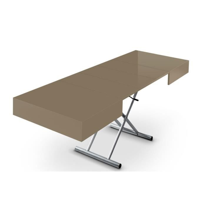 Table relevable taupe - Table basse relevable cdiscount ...