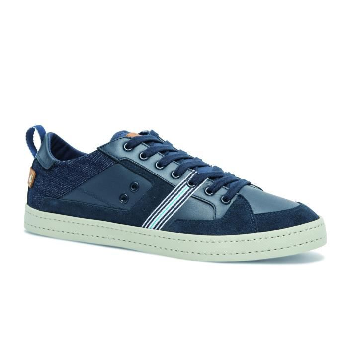 TBS BLASTER BASKETS CUIR HOMME NAVY 46 NAVY Navy - Achat   Vente ... 60a51378455d