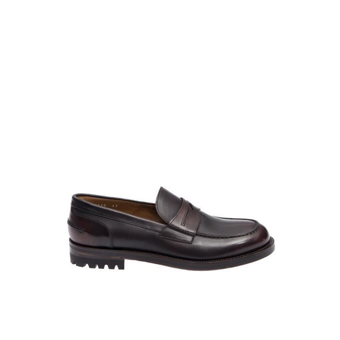 DOUCAL'S HOMME 13193UF7I MARRON CUIR MOCASSINS