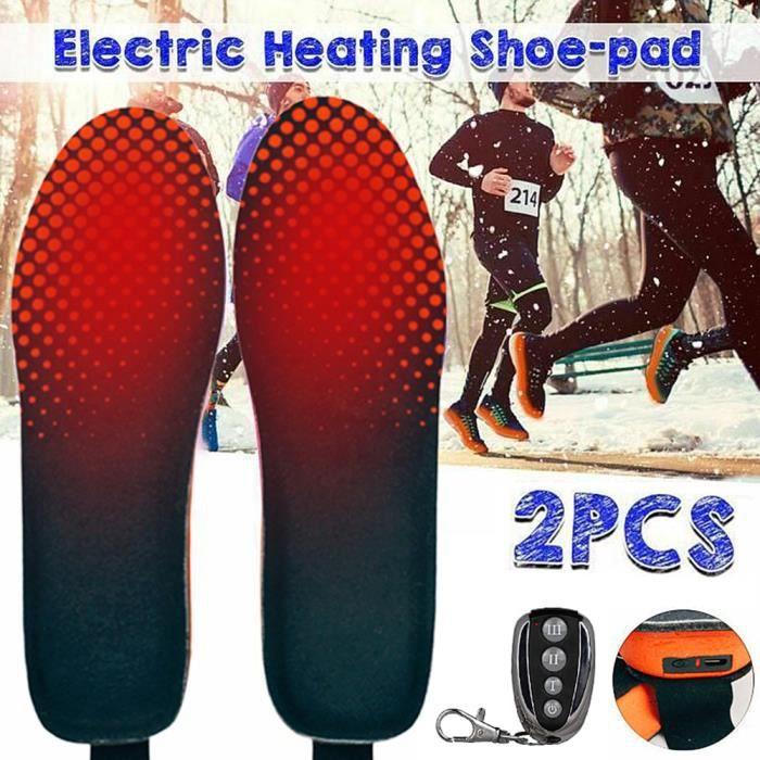 Semelle Thermique pour dhiver USB Semelles chauffantes de p/êche de Camping de randonn/ée Chauffe Pied Rechargeable Noir Semelle Chauffante