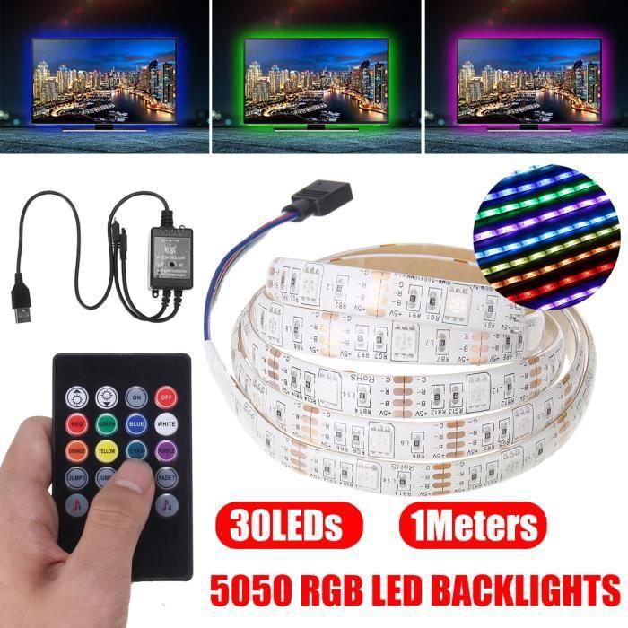 BANDE - RUBAN LED NEUFU 1m Ruban LED Bande lumineux USB 30 LEDs 5050