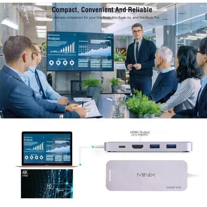 DISQUE DUR SSD EXTERNE Disque SSD externe -Disque dur externe multifoncti